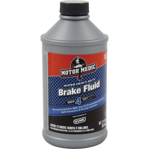 MotorMedic 12 Oz. Super Heavy-Duty DOT 4 Brake Fluid