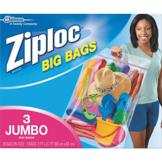 Ziploc Big Bag 20 Gallon XXL Storage Bags, (3-Count)