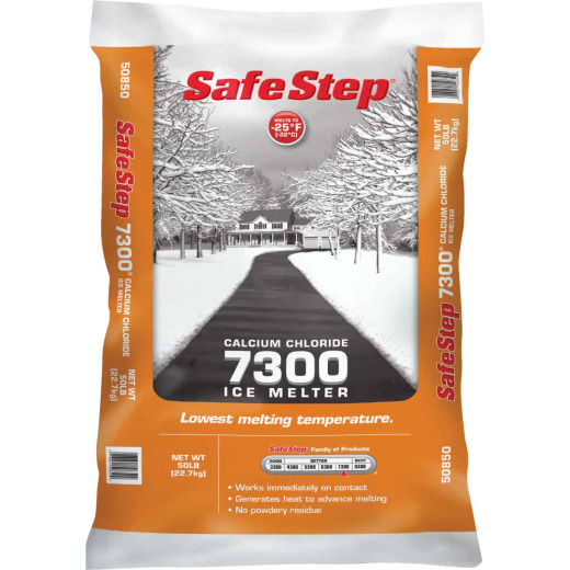 Safe Step 7300 50 Lb. Calcium Chloride Ice Melt Pellets