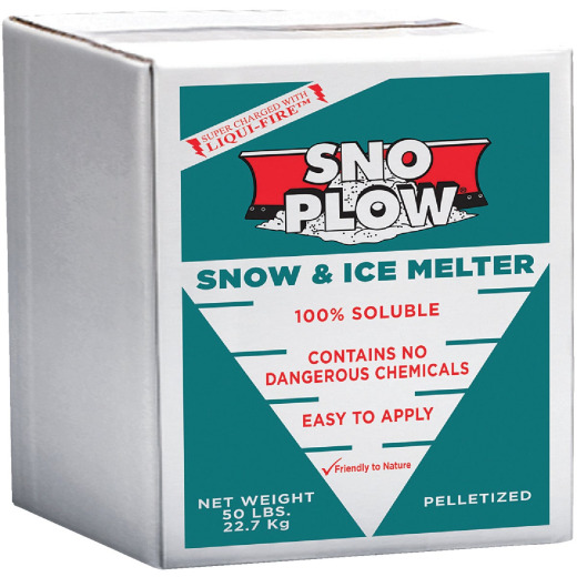 Sno Plow 50 Lb. Box Ice Melt Pellets