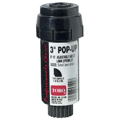 Toro 3 In. Quarter Circle Pop-Up Head Lawn Sprinkler