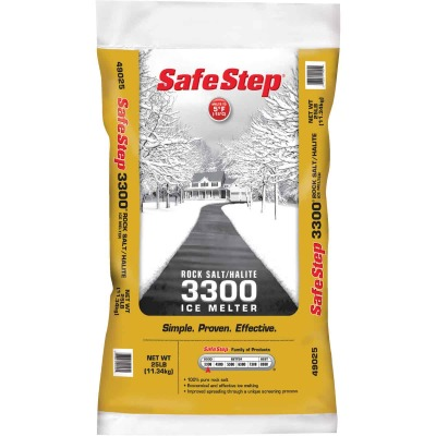 Safe Step 3300 25 Lb. Rock Salt/Halite Ice Melt Large Pellets