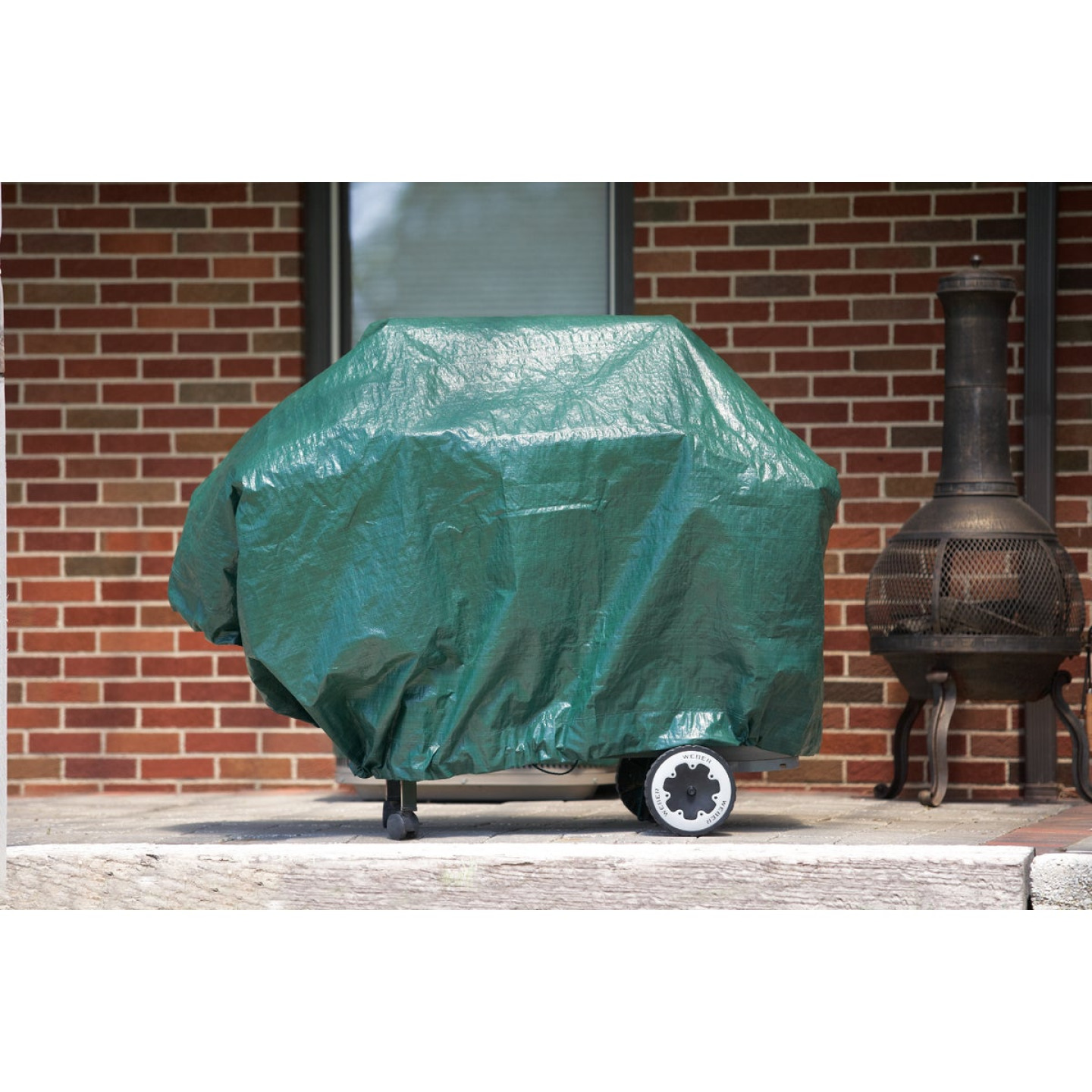 Do it Best 9 Ft. x 9 Ft. Poly Fabric Green Lawn Cleanup Tarp Image 3