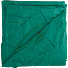 Do it Best 9 Ft. x 9 Ft. Poly Fabric Green Lawn Cleanup Tarp Image 5