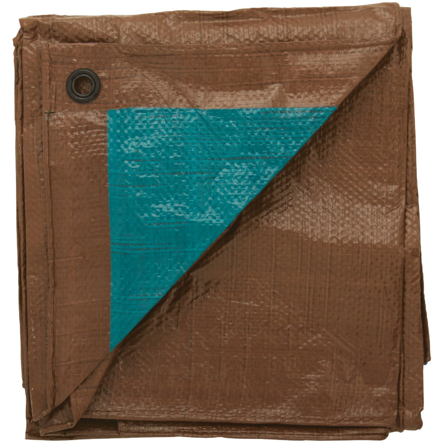 Do it Best 1 Side Green/1 Side Brown Woven 6 Ft. x 8 Ft. Medium Duty Poly Tarp Image 3