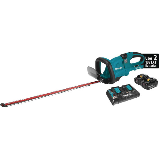Makita 18V X2 (36V) 25-1/2 In. (5.0Ah) LXT Lithium-Ion Cordless Hedge Trimmer Kit