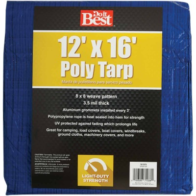 Do it Best Blue Woven 12 Ft. x 16 Ft. General Purpose Tarp